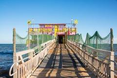 61st rua que pesca Pier Galveston Texas Imagem de Stock