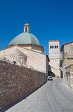 St. Rufino Church. Assisi. Umbria. Stock Photo