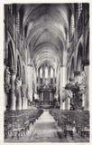 St Rumbold de Kathedraal interieur DE I 'eglise heilige -heilige-rombaut, Brussel stock fotografie