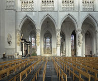 St. Rumbold's Cathedral. MECHELEN, BELGIUM-DECEMBER 29, 2013: Interior of St. Rumbold's Cathedral. This cathedral was consecrated in 1312 Stock Image