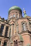 St russe Sophia Church de construction à Harbin, la plus grande église orthodoxe orientale en Extrême Orient Photos stock
