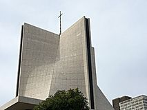 St ` s Maryjna katedra i cień sztuka Fotografia Royalty Free