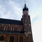 St ` s Maryjny kościół w Krakow zdjęcia stock