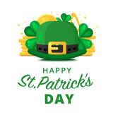 St. or Saint Patrick`s day vector background design. Royalty Free Stock Photos