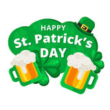 St. or Saint Patrick`s day vector background design. Royalty Free Stock Photo