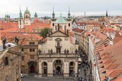 St. Salvator Church is part of Prague`s famous Klementinum royalty free stock photo