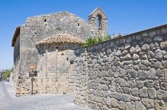 St Salvatore dei Di della chiesa. Tarquinia. Il Lazio. L'Italia. Immagine Stock Libera da Diritti