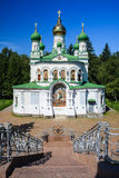 St. Sampson Church in Poltava. As seen from the Battle of Poltava Bed of Honour memoiral Stock Images