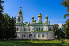 St. Sampsoniy sepulchral church (1856). St. Sampsoniy sepulchral church - a church - memorial monument on the Poltava battle field.State Historical and Cultural Royalty Free Stock Image