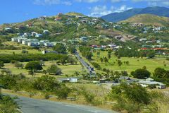 St San Cristobal, caraibico Immagine Stock
