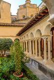 St. Sauveur cloister at the Cathedral in Aix-en-Provence, France royalty free stock images