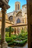 St. Sauveur cloister at the Cathedral in Aix-en-Provence, France royalty free stock photos