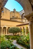 St. Sauveur cloister at the Cathedral in Aix-en-Provence, France royalty free stock image