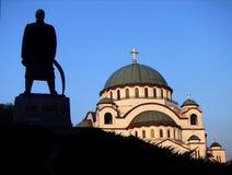 St Sava寺庙贝尔格莱德 免版税库存图片