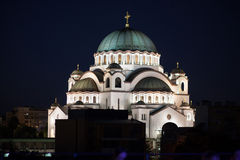 St Sava教会,贝尔格莱德,塞尔维亚 免版税库存照片