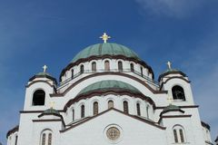 St Sava cathedral Stock Photo