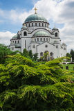 St Sava cathedral in Belgrade Serbia. Architecture detail Royalty Free Stock Images
