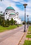 St. Sava church,Belgrad,Serbis, in a beautifull afternoon Stock Photo
