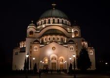 St Sava ` s Tempel Stock Afbeelding
