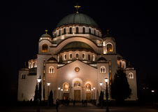 St. Sava`s Temple. In Belgrade, the largest temple in Serbia Stock Image