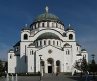 St. Sava Tempel stock afbeelding