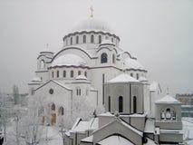 St. Sava Tempel royalty-vrije stock afbeeldingen
