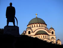 St Sava Temple Belgrade Images libres de droits