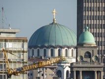 St Sava Temple in Belgrado royalty-vrije stock afbeelding