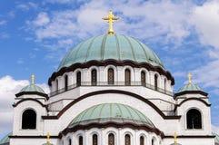 St Sava Temple a Belgrado Immagini Stock Libere da Diritti
