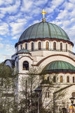 St. Sava Temple Dome - The World Largest Orthodox Church - Belgr Royalty Free Stock Image