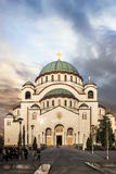 St. Sava Temple at Dusk - Belgrade - Republic of Serbia Royalty Free Stock Images