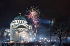 St Sava Temple em Belgrado Imagem de Stock Royalty Free