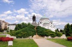 St Sava Temple em Belgrado Foto de Stock