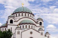 St Sava Temple em Belgrado Fotografia de Stock