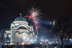 St Sava Temple en Belgrado Imagen de archivo libre de regalías