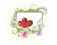 St Scheda di giorno del biglietto di S. Valentino Fotografia Stock Libera da Diritti