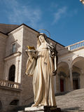 St.Scholasticas Statue Royalty Free Stock Photo
