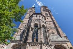 St Sebaldus教会St Sebald,Sebalduskirche中世纪教会在纽伦堡,德国 库存图片