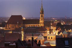 St. Sebaldus Church in Nuremberg Royalty Free Stock Photography