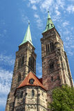St. Sebaldus Church in Nuremberg, Germany, 2015 Royalty Free Stock Photography
