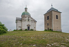 St. Sebastian Chapel on the Holy Hill, Mikulov Stock Photo