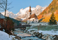St. Sebastian Church in Ramsau Stock Photography