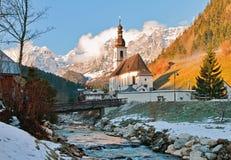 St. Sebastian Church in Ramsau Stock Photography
