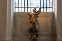 St Sebastian em St Joannis da basílica em Sarburgo Imagem de Stock