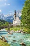St. Sebastian Parish Church, Ramsau, Bayern Lizenzfreies Stockbild