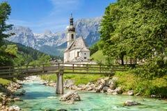 St Sebastian Parish Church, Ramsau, Beieren Royalty-vrije Stock Afbeeldingen