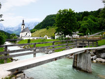 St. Sebastian Parish Church, Ramsau Stock Photos