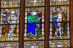 St Sebastian St Patrick Stained Glass Saint Severin Paris France Royalty Free Stock Images