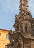St Sebastian statue of Plague Column (1716) in Kutna Hora Royalty Free Stock Photo