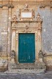 Церковь St. Sebastiano. Galatone. Апулия. Италия. стоковые фотографии rf